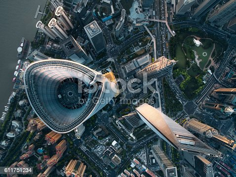 istock Aerial View Of Shanghai 611751234