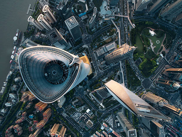 Aerial View Of Shanghai Aerial View Of Shanghai shanghai stock pictures, royalty-free photos & images