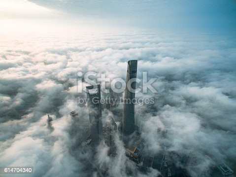 istock Aerial View Of Shanghai 614704340