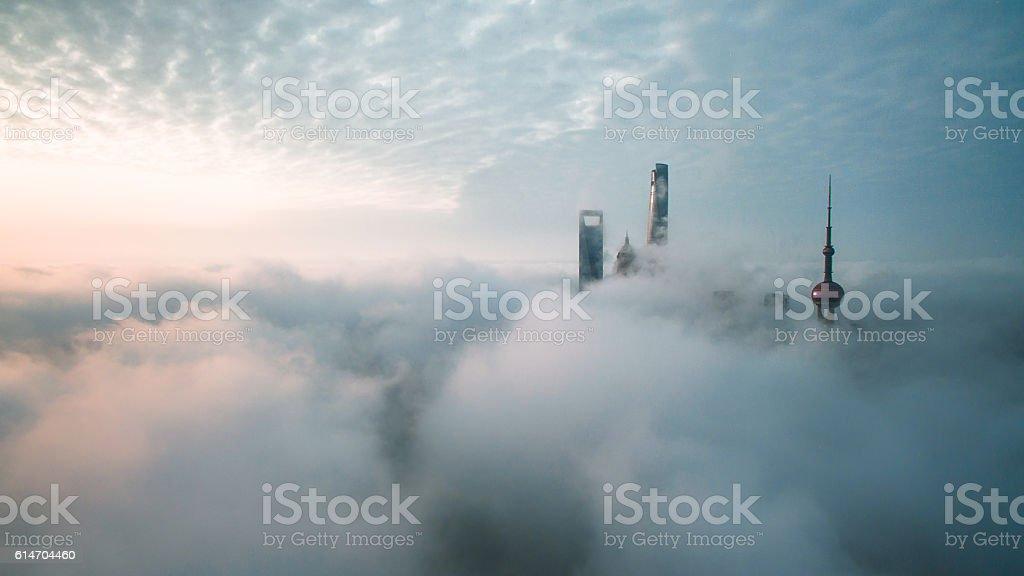 Aerial View Of Shanghai – Foto