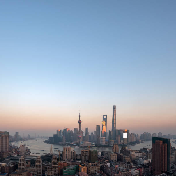 Luftaufnahme von Shanghai – Foto