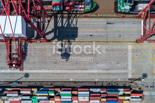 View of Shanghai Yangshan deepwater port.