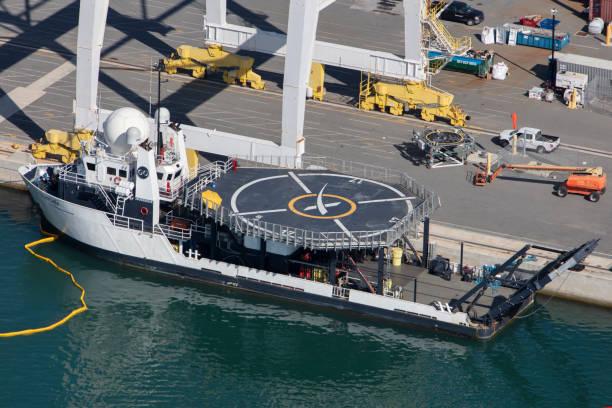 선박 수색 포트 커내버럴 플로리다의 공중 보기 스톡 사진