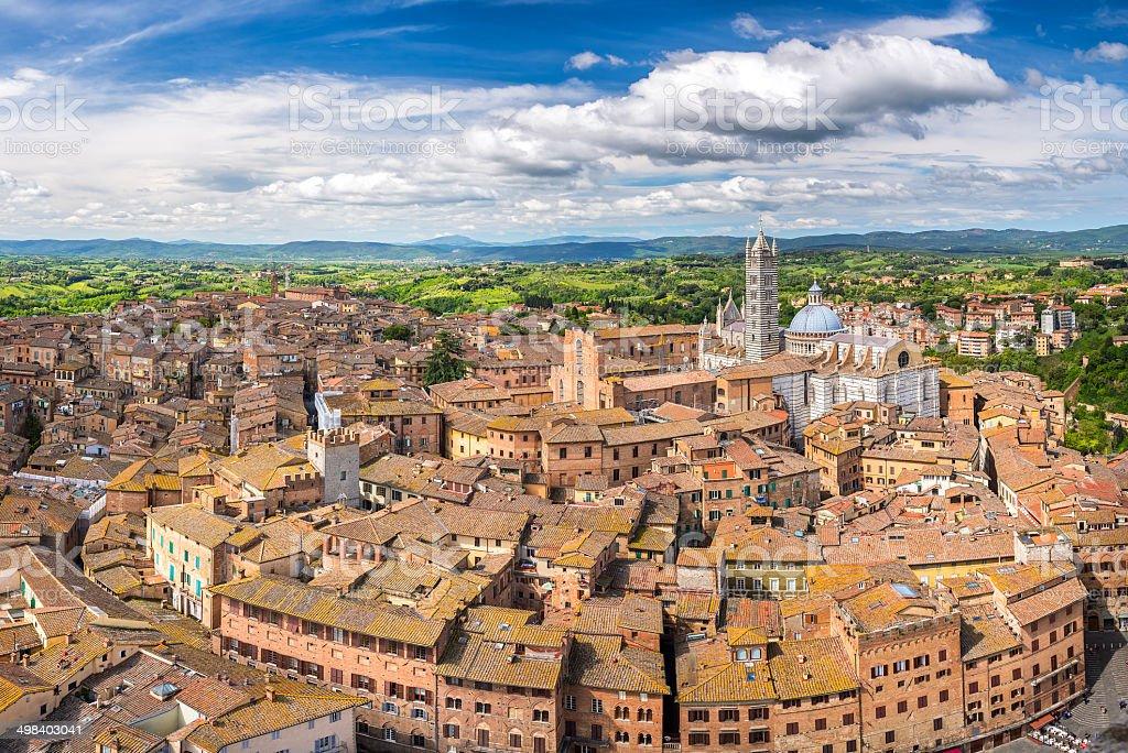 Luftbild von Siena – Foto