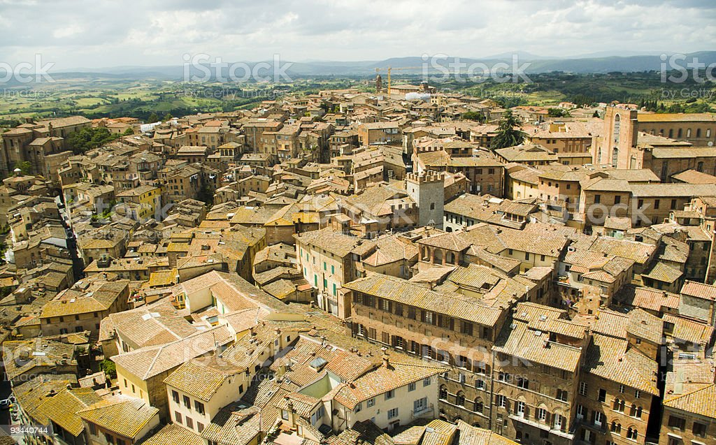 Luftbild von Siena, Toskana, Italien Lizenzfreies stock-foto