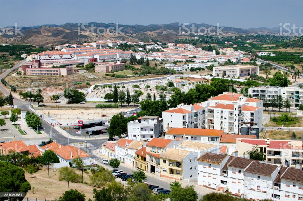 Aerial View of Silves stock photo