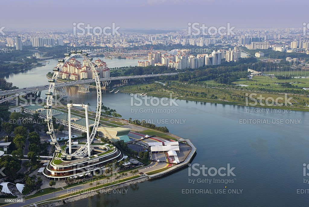 Aerial View of Singapore at sunset. royalty-free stock photo