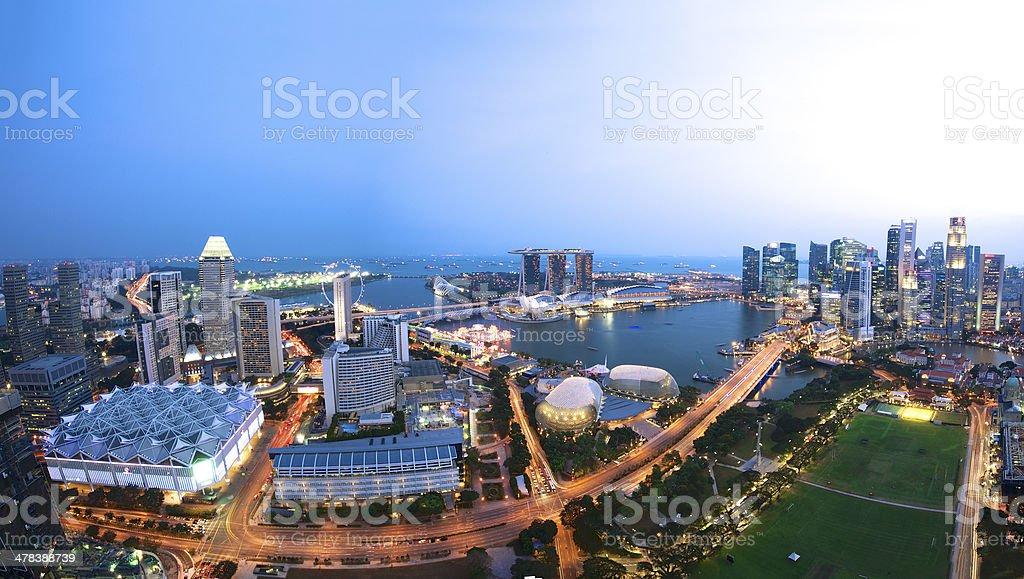 Aerial view of Singapore Skyline stock photo