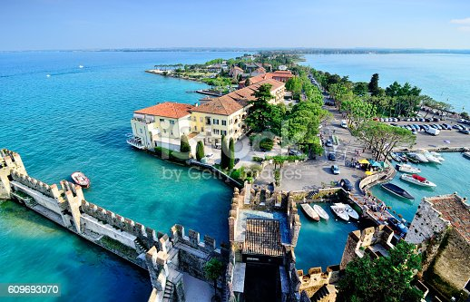 Aerial view of Sirmione on Lake Garda, Italy