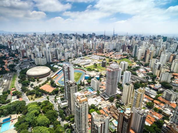 Vista aérea de rascacielos en Sao Paulo, Brasil - foto de stock
