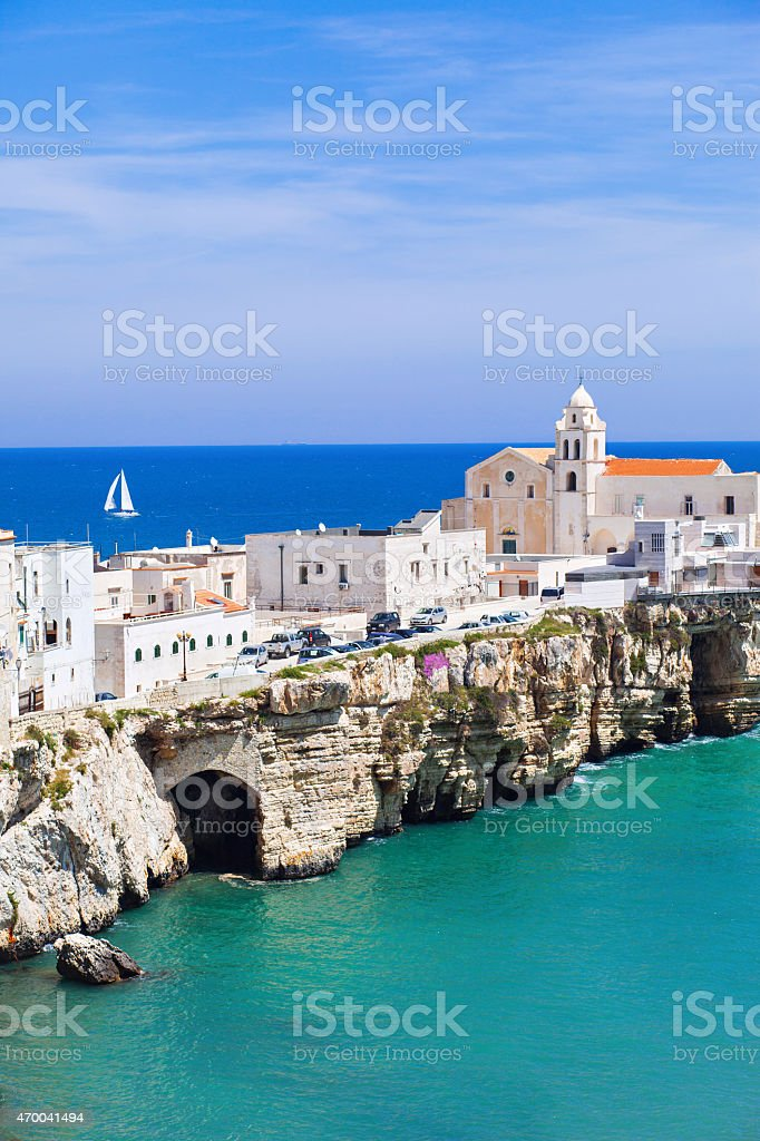 Aerial view of small village in Southern Italy stock photo