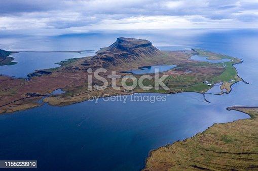 istock Aerial view of Snaefellsnes penisula near Kirkjufell mountain, Iceland 1155229910