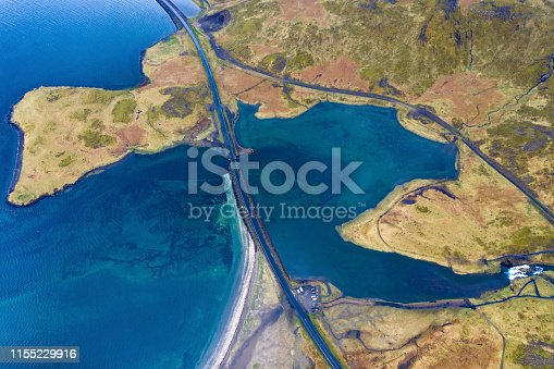 istock Aerial view of Snaefellsnes penisula near Kirkjufell mountain, Iceland 1155229916