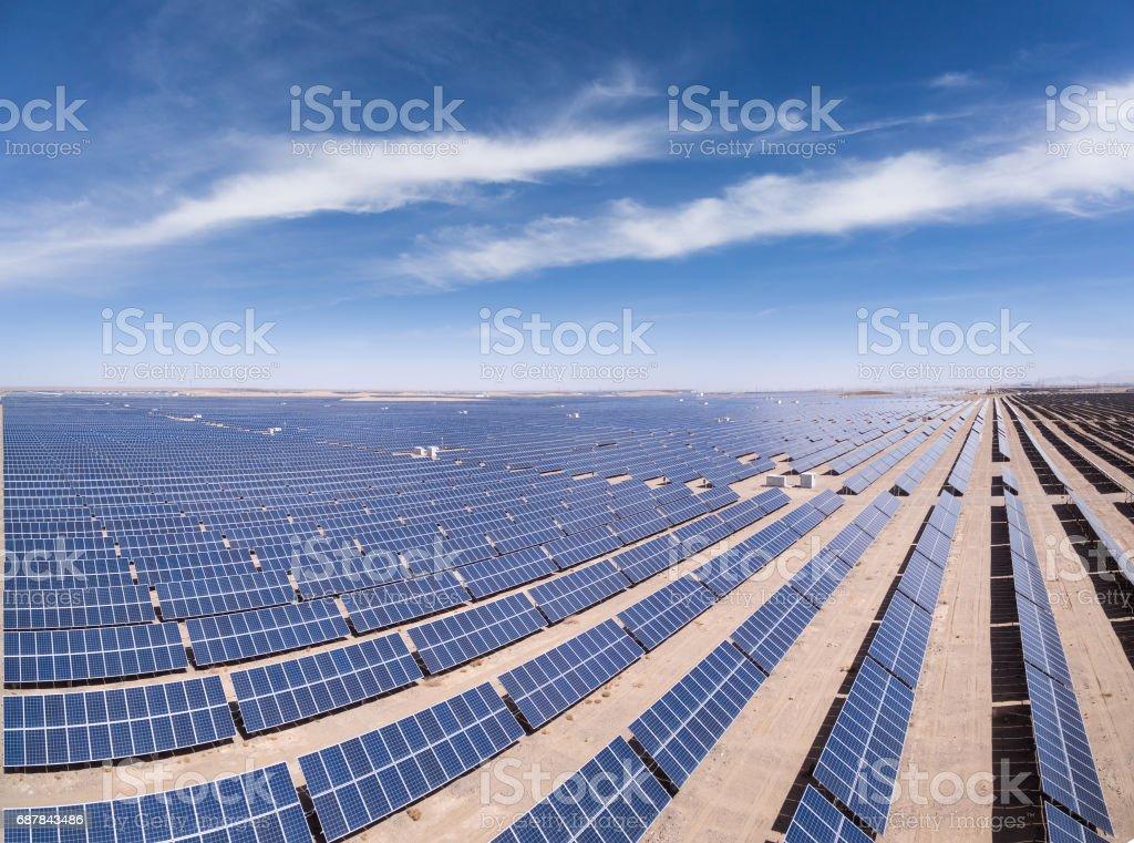 Luftaufnahme von Solarenergie – Foto