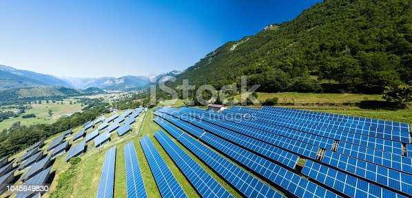 Solar Power Station in Italy installed in the Alpine mountains