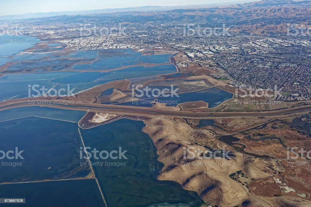 Aerial View of South San Francisco stock photo
