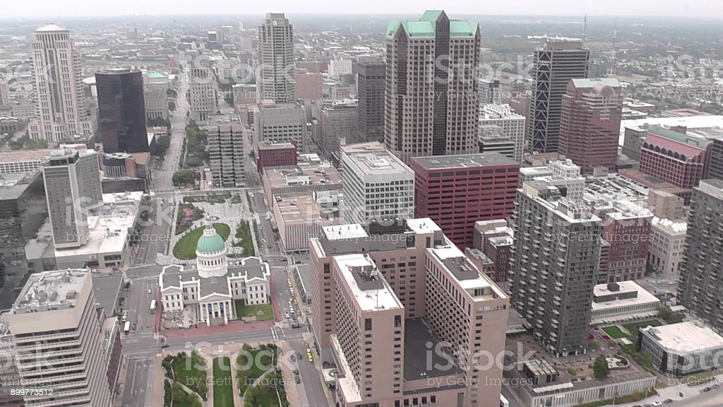Aerial View of St. Louis, Missouri stock photo