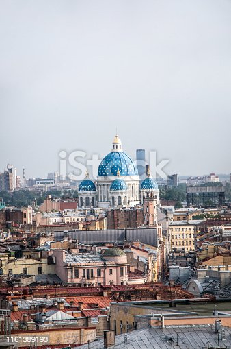 Aerial View Of St. Petersburg And Trinity Cathedral