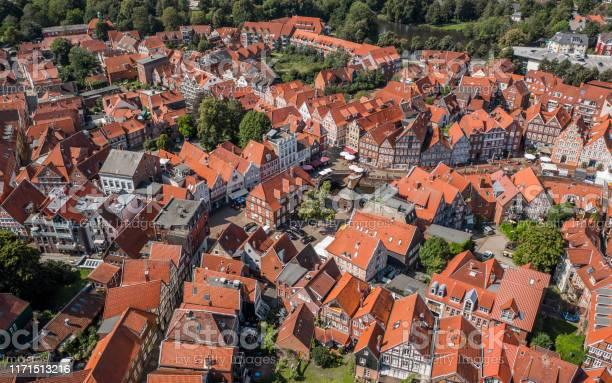 Luftaufnahme Von Stade Stockfoto und mehr Bilder von Außenaufnahme von Gebäuden