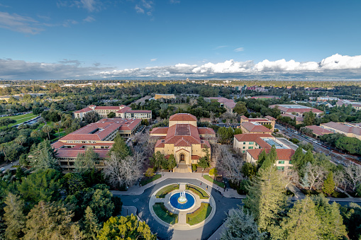 istock Aerial view of Stanford University Campus - Palo Alto, California, USA 663940256