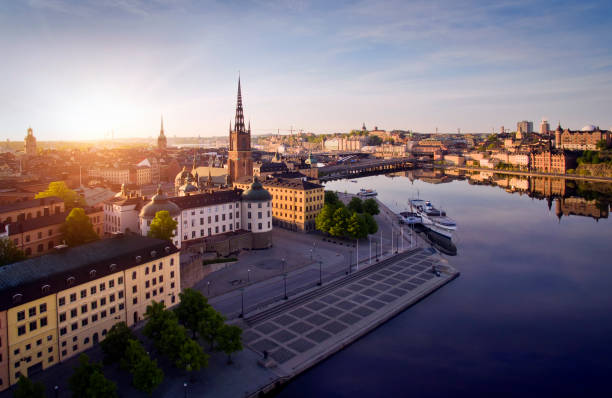 Aerial view of Stockholm City Aerial view of Stockholm City stockholm stock pictures, royalty-free photos & images