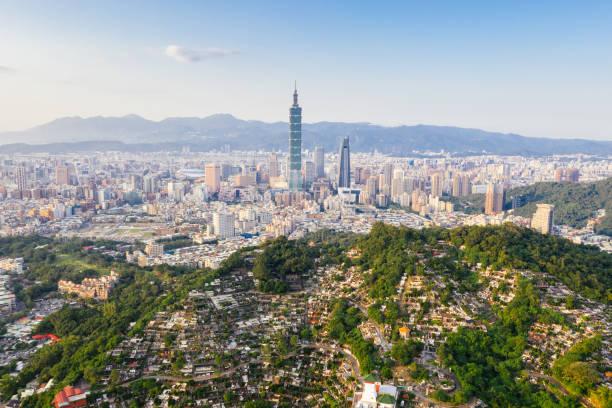 Luftaufnahme von Taipeh-Stadt, Taiwan – Foto
