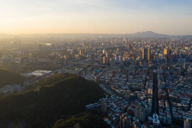 Luftaufnahme des Stadtbildes von Taipeh – Foto