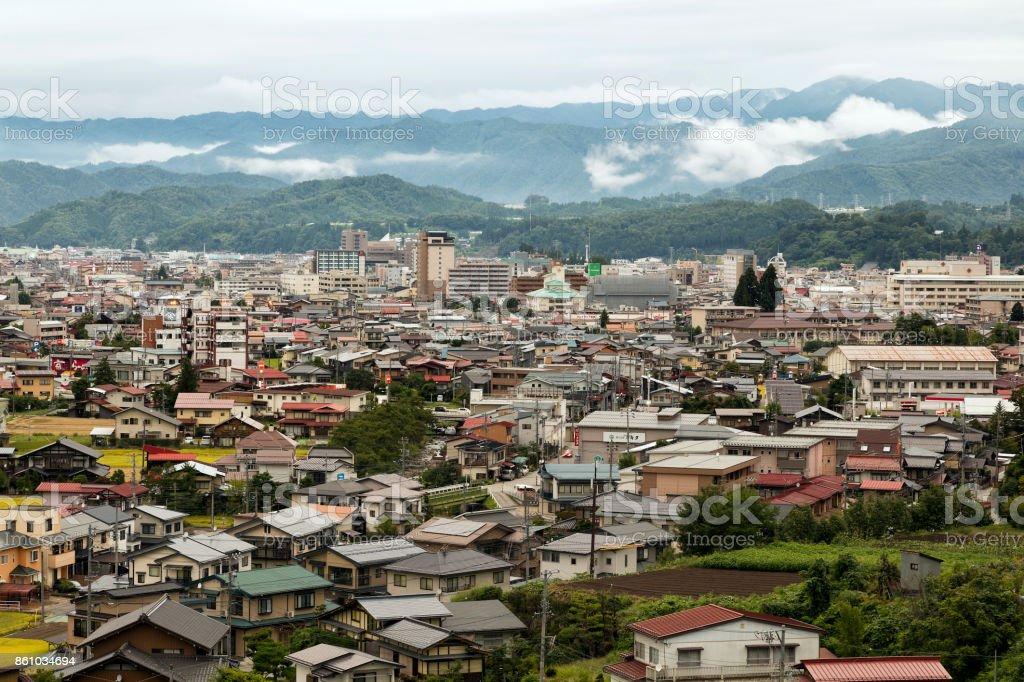 Aerial View of Takayama, Japan stock photo