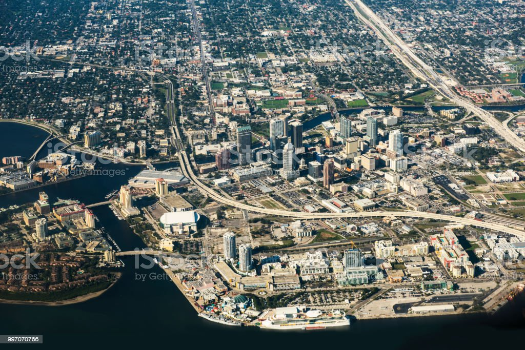 Aerial view of Tampa, Florida stock photo