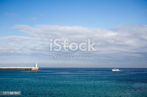 istock Aerial view of Tarifa Ferry trip to Tangier Africa Marruecos 1271567847
