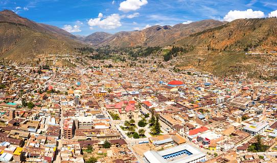 istock Aerial view of Tarma city in Peru 1165240870