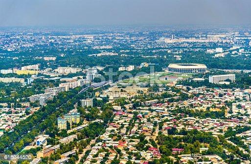 istock Aerial view of Tashkent in Uzbekistan 618044520
