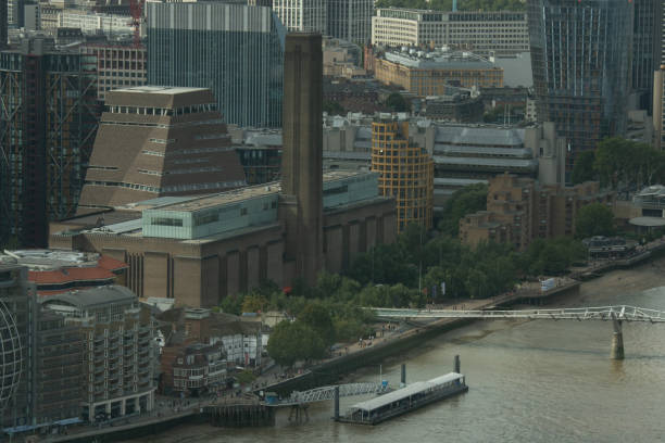 Aerial View of Tate Modern stock photo