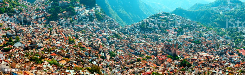 Aerial View Of Taxco Guerrero Mexico Stock Photo Download Image Now Istock
