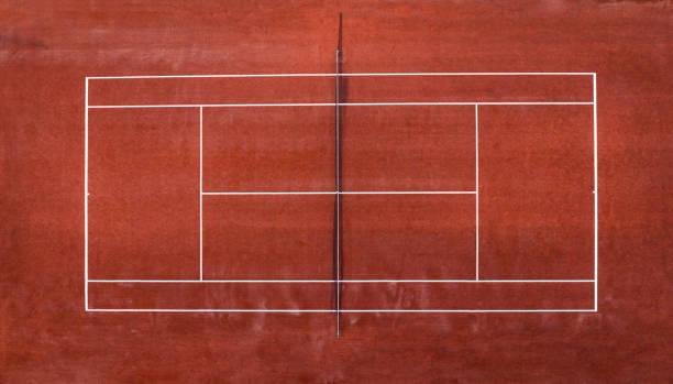 Luftaufnahme des Tennisplatzes – Foto