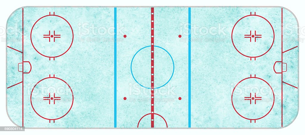 Aerial View of Textured Ice Hockey Rink stock photo