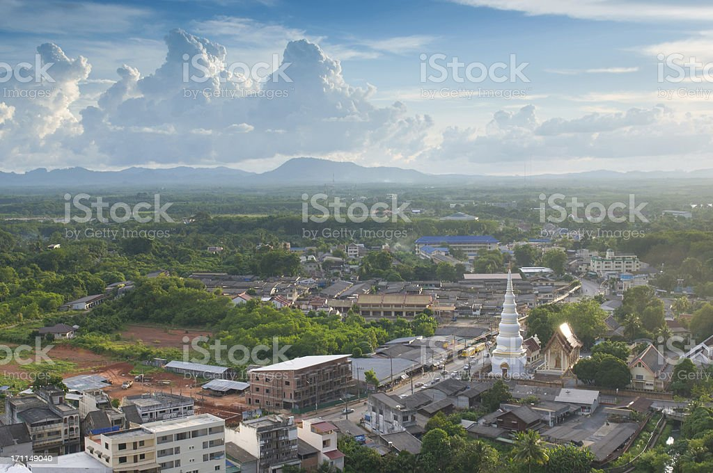 Aerial view of Thailand  cityscape and garden royalty-free stock photo