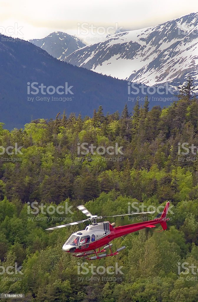 Aerial view of the  Alaska  wilderness stock photo