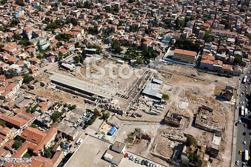 istock Aerial view of The Ancient Agora in Izmir 157725794
