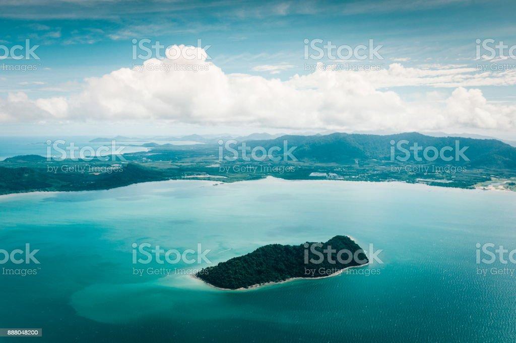 Luftaufnahme der Küste Andamanen, Phuket, Thailand – Foto