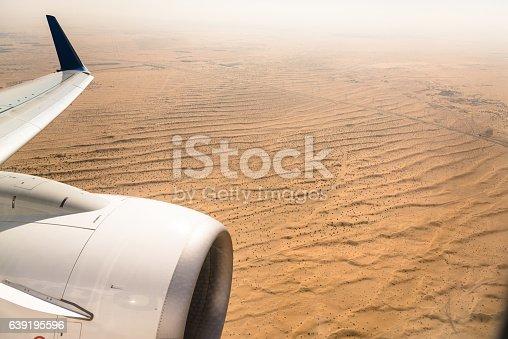 aerial view of the arabian desert