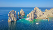 Aerial drone picture in Cabo San Lucas