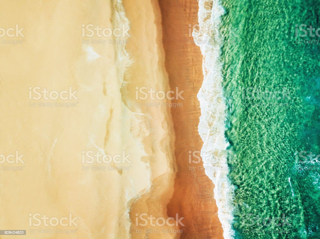 aerial view of the australian bondi beach stock photo