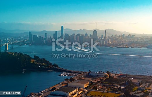 istock Aerial view of the Bay Bridge in San Francisco 1200026284