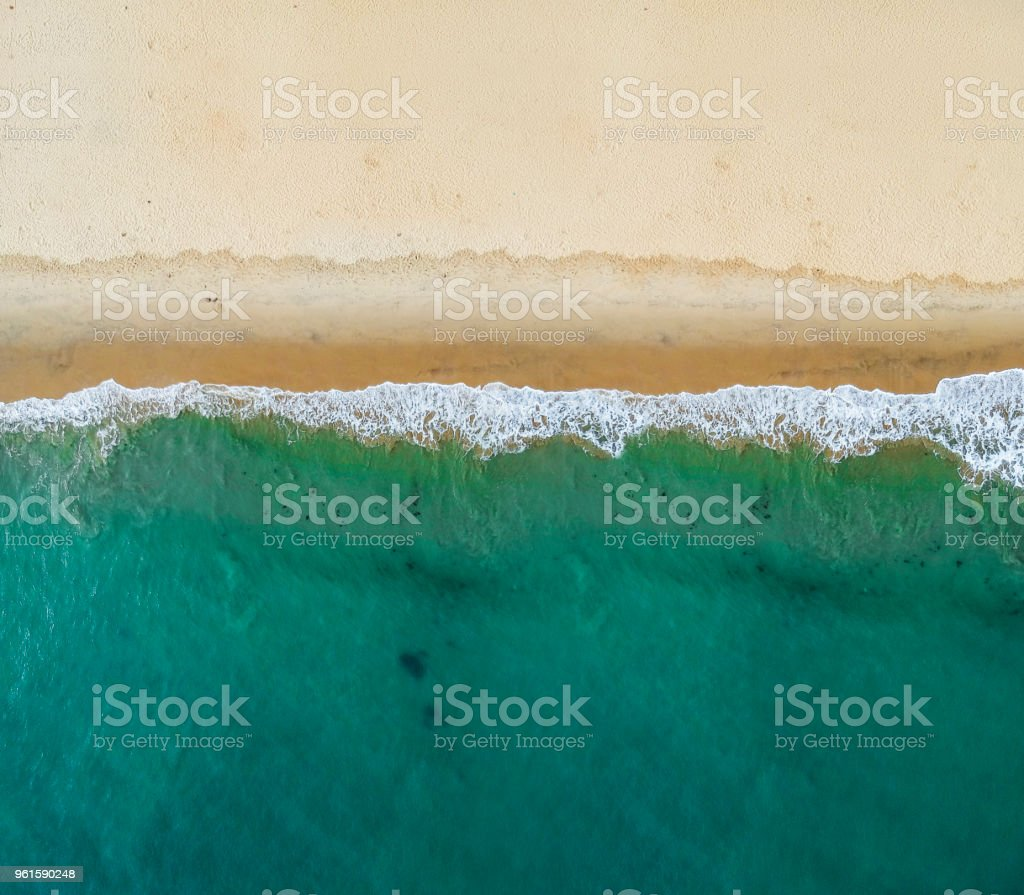 Aerial view of the beach royalty-free stock photo