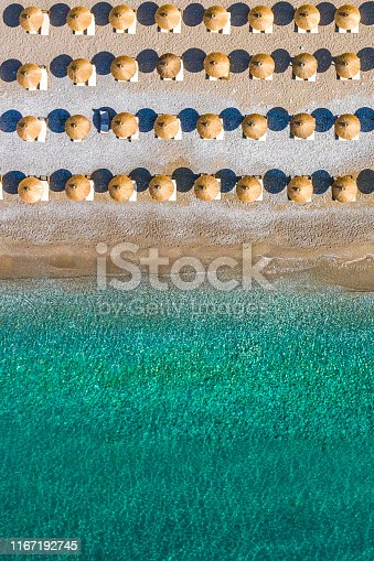 999001484 istock photo Aerial view of the beach shoreline 1167192745