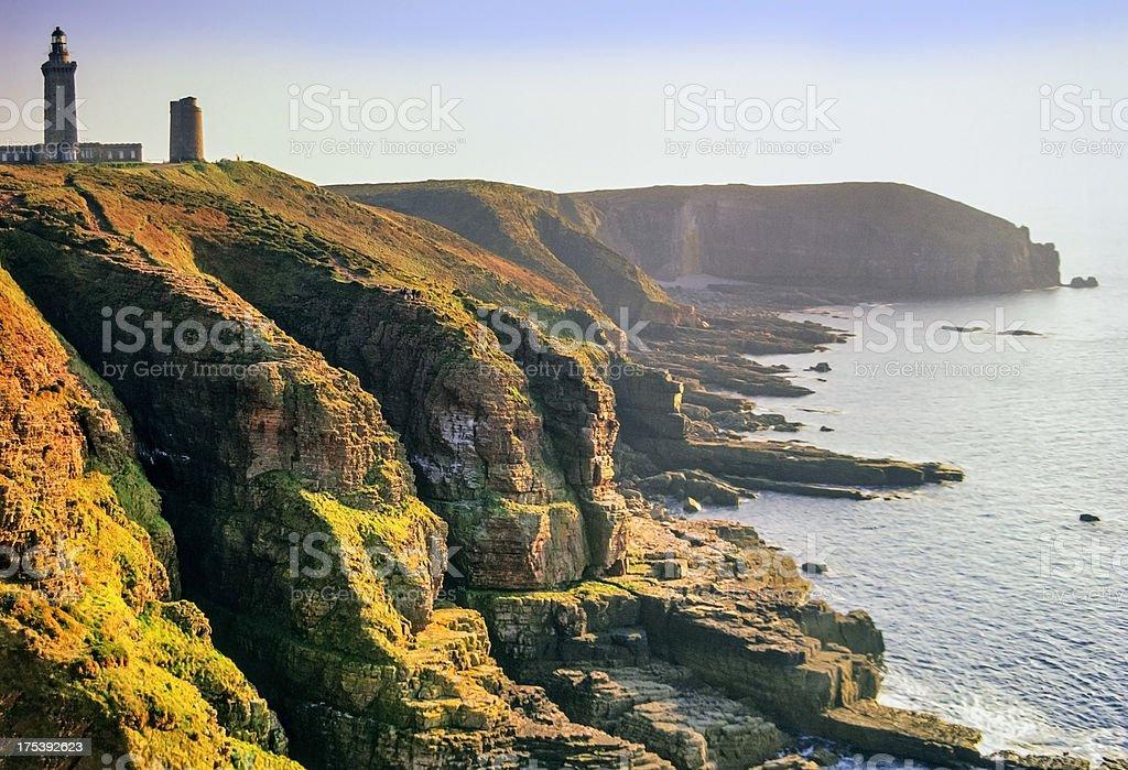 Luftaufnahme der bretonischen Küste – Foto