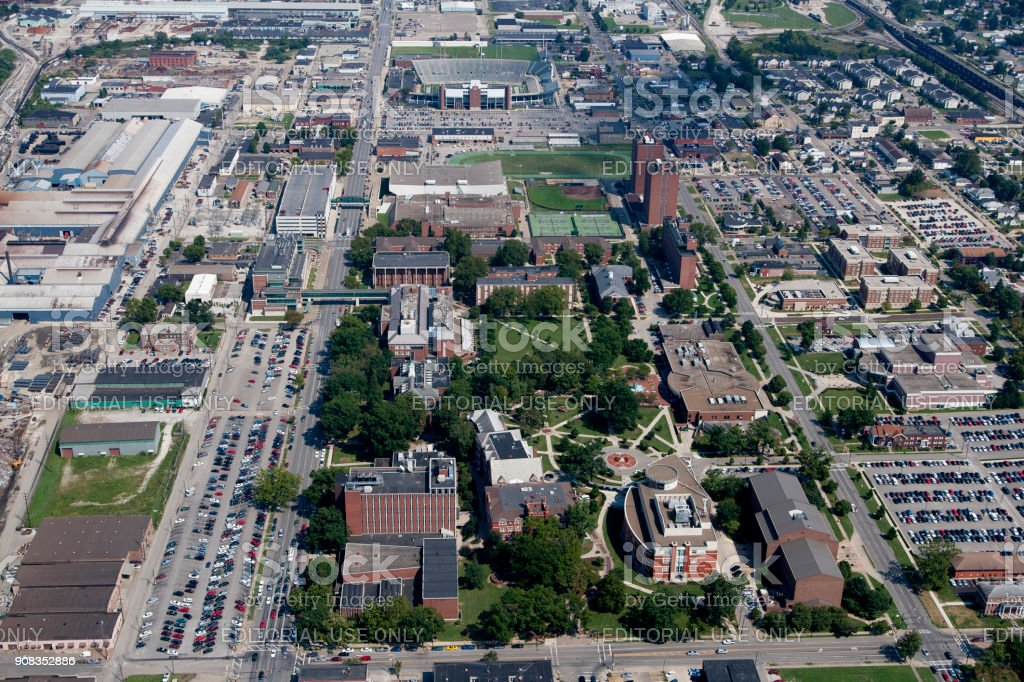 Aerial View Of The Campus Marshall University Royalty Free Stock Photo