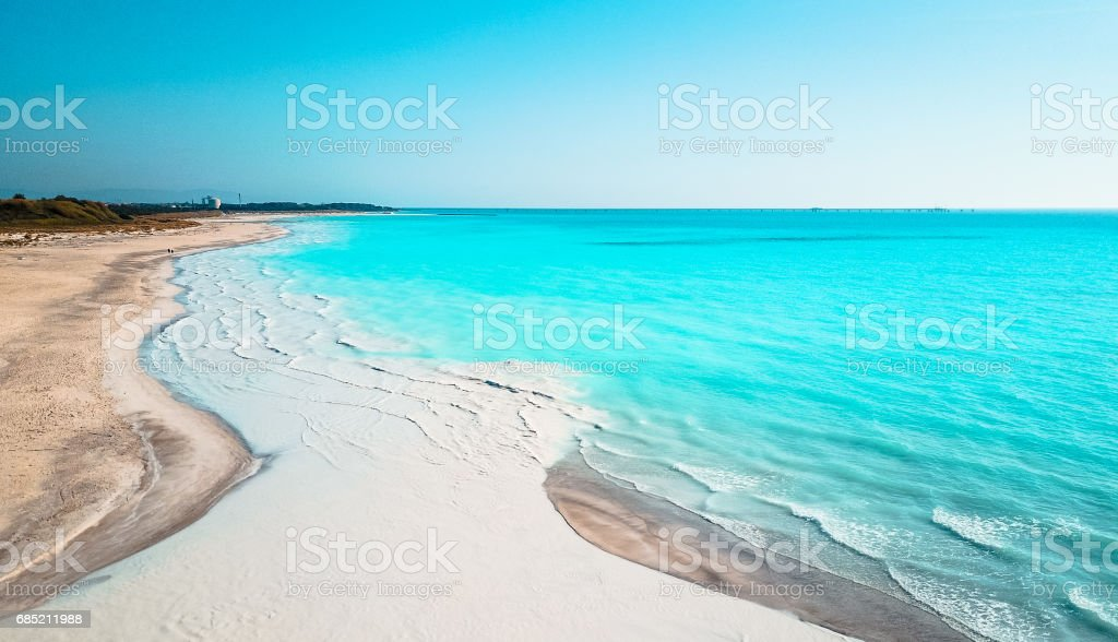 aerial view of the caribbean sea foto de stock royalty-free
