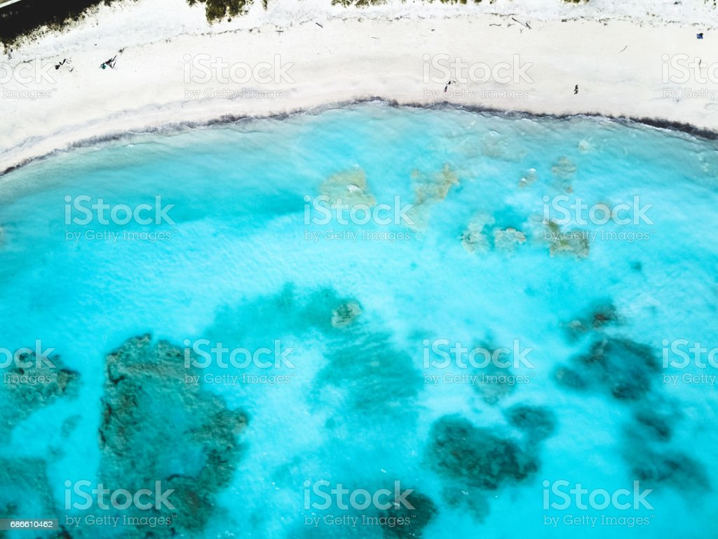 aerial view of the caribbean sea royalty-free stock photo